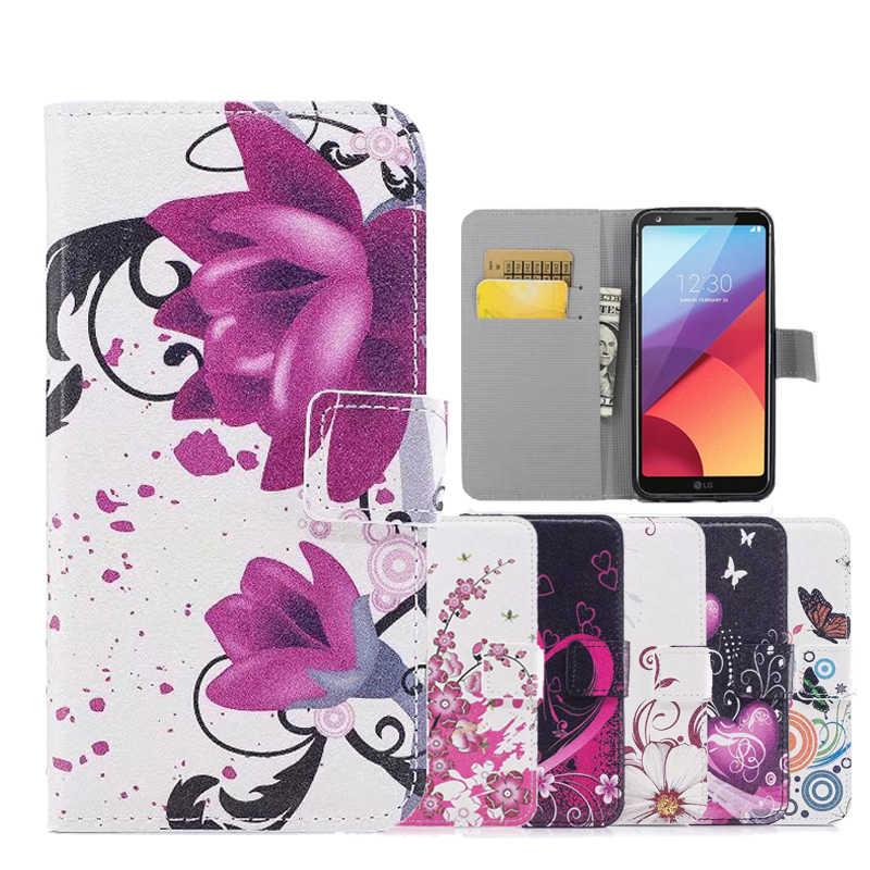 Cartera de cuero caja del teléfono Flip Stand carcasa cubierta para LG K5 K7 K8 K10 2016 G3 G4 Mini G5 G6 V10 V20 V30 Leon H340 H324