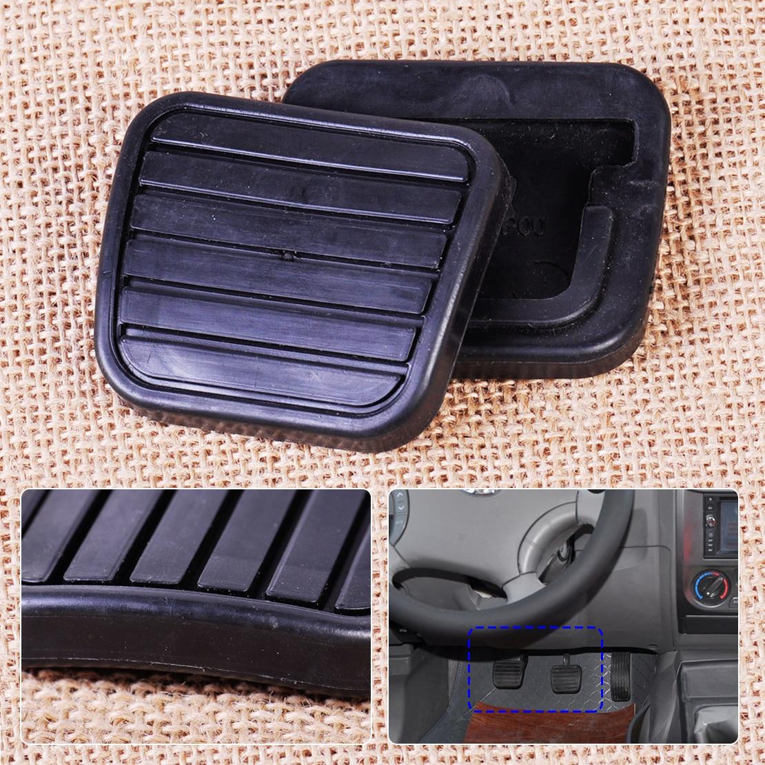 CITALL 2pcs Car Clutch Brake Pedal Pad Rubber Cover For Great Wall V200 K2 2.0L Man Dual Cab PickUp RWD 2012 2013 2014 2015 2016