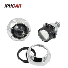 2pcs 2.5inch Bi xenon bi-xenon Projector lens with zkw shrouds H1 H4 H7 motorcycle car hid projector lens headlight Headlamp
