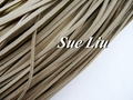 10pcs 3mmx1.5mm Khaki Flat Faux Suede Velvet Leather Cord -1M/pcs NCS66