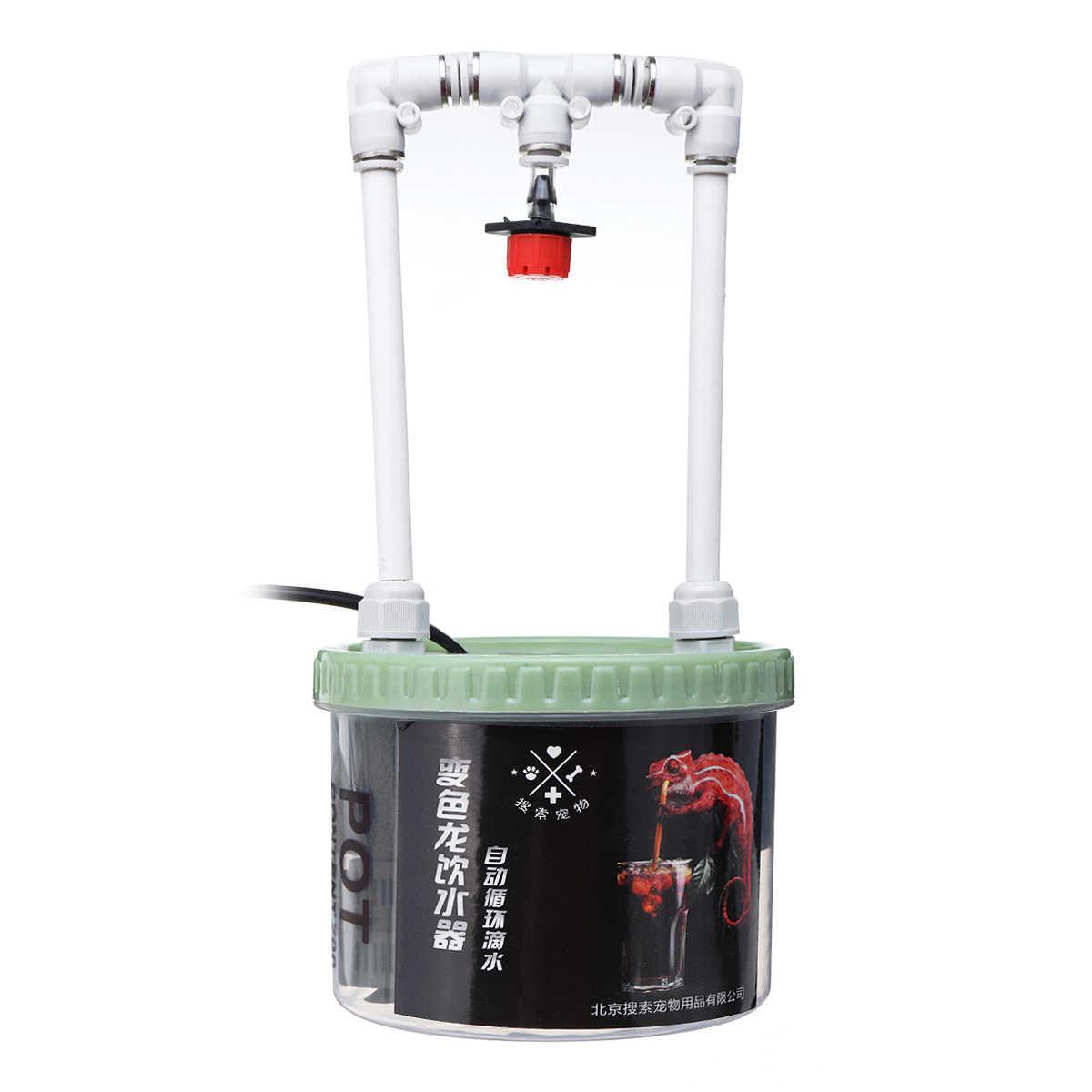 2 W 500/700 Ml Reptil Air Minum Dripper Kadal Ular Laba-laba Dispenser Air Terarium Habitat Perlengkapan Makan 220 V