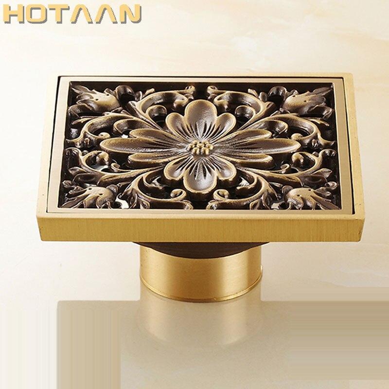 Oil Rubbed Bronze Bathroom Shower Floor Drain Flower Art Great Waste