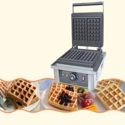 110/220V Commercial Electric Waffle Maker Non-Stick Professional Electric Muffin Maker Temperature Control EU/AU/UK/US Plug