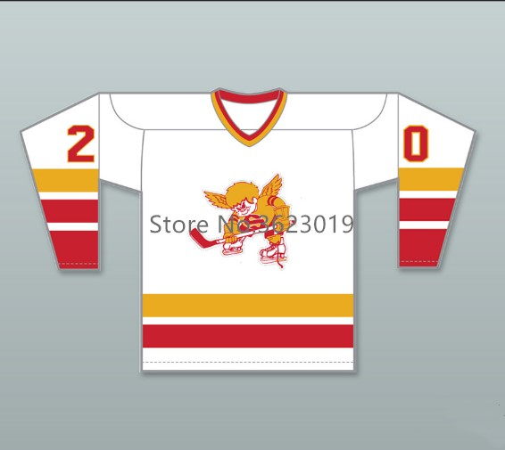 WHA 1976-77 Minnesota Fighting Saints Jack Carlson  20 Hockey Jersey  Embroidery Stitched Customize any number and name 5cd89cc7a72