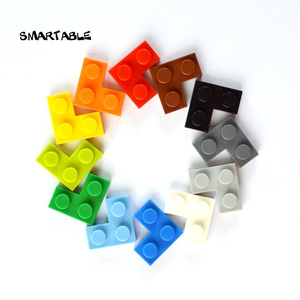 Smartable Plate 2x2 Corner Building Blocks Parts DIY LOGO Educational Creative Toys Compatible Major Brands 2420 Toys 200pcs/lot