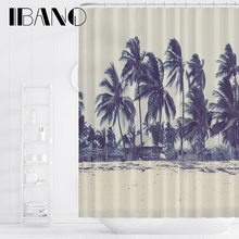IBANO Green Plant Shower Curtain Waterproof Polyester Fabric Bath For The Bathroom Decoration With 12pcs Hooks