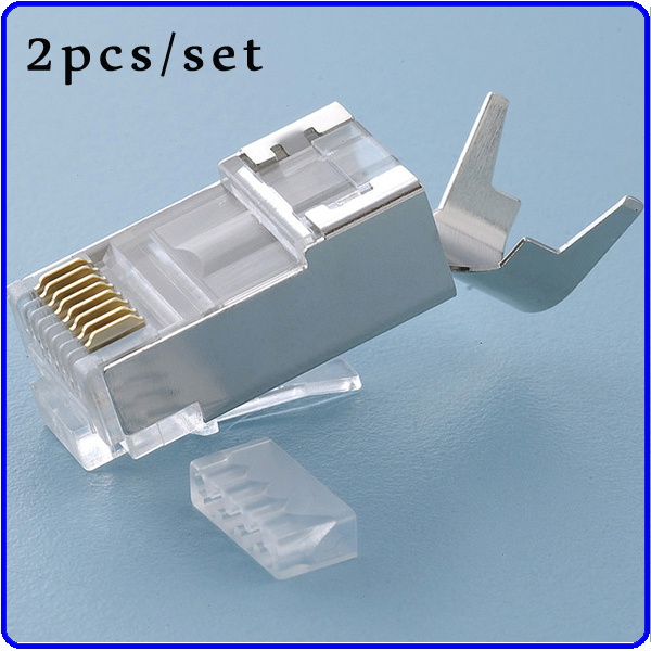 cat7 shielded rj45 with wire loding guide 8p8c plug stp connector 30u gold plating 30pcs bag in. Black Bedroom Furniture Sets. Home Design Ideas