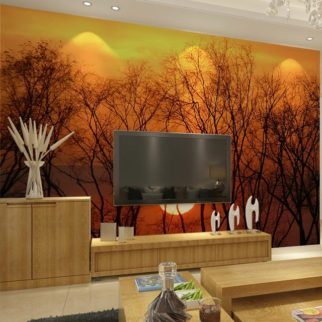 Nature Wall Decor aliexpress : buy beautiful sunset scenery customized diy