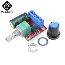 4.5-35V 90W PWM DC Motor Speed Controller Control Regulator Module 5A Switch Function LED Dimmer Board 20KHz(China)