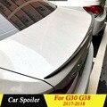 Высокое качество углеродного волокна задний спойлер багажника для BMW 5 серии G30 G38 седан M5 2017 2018 автомобильный спойлер украшение в виде хвост...