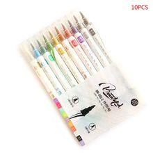 Цветная ручка с двойной головкой для студентов, офиса, металлическая ручка для заметок, креативная ручная ручка для рисования, поздравительная открытка, каллиграфия, ручка для рисования