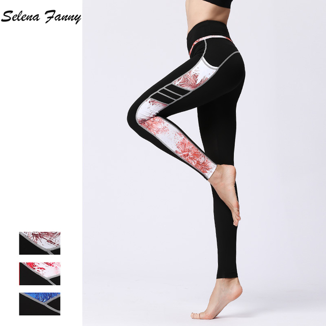 4ff8c4b6b36c7 Selena Fanny Women Sport Leggings Solid Slim Push Up Gym Running Tights  Fitness Sportswear Plus Size High Waist Yoga Pants XL