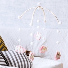 1pc Baby Rattle For 0-12Months Crib Mobile Bed Bell Projection Early Learning Kid Stroller Toy Newborn Cart Wool Ball Toys