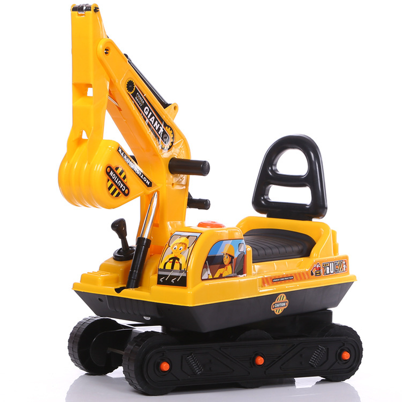 Child Outdoor Sports Twisting Car Baby Walker Ride on Excavator Car Plastic Toys for Children Kids Mini Ride on Toy Excavator peppa s car ride