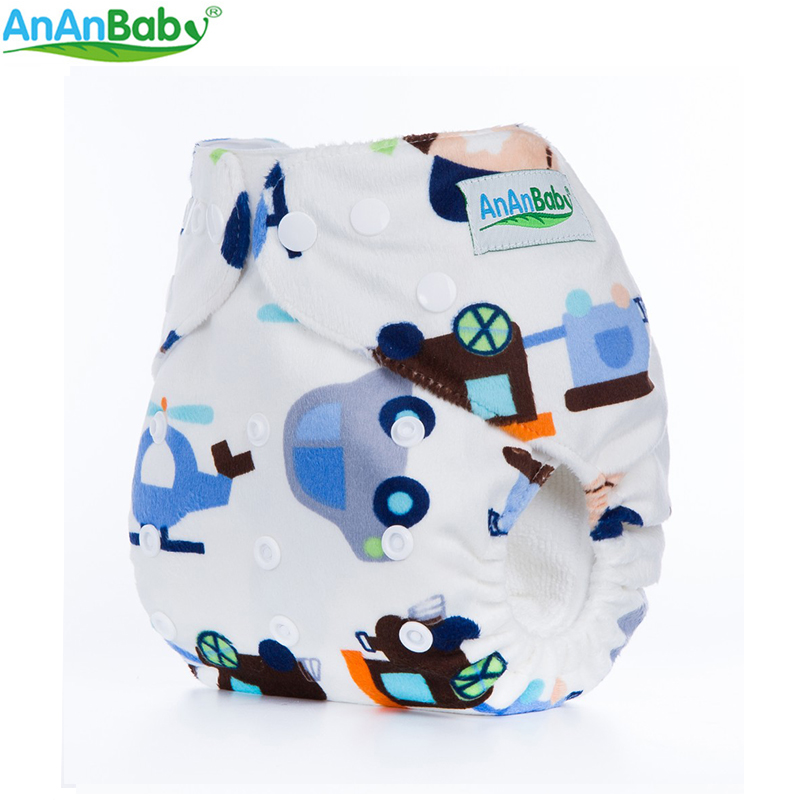 Ananbaby New Styles 1pcs Super Minky Cloth Diapers Cover Reusable Nappy Baby Cloth Diaper Nappies D Series Baby Care