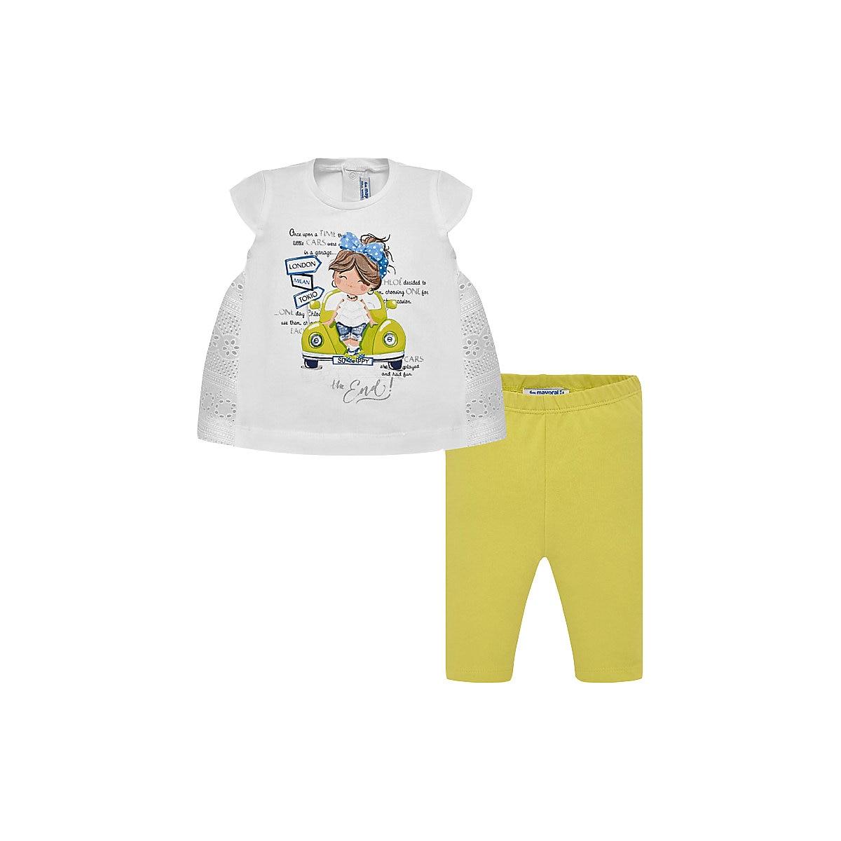 MAYORAL Babys Sets 10682329 Cotton Girls Fashion clothing costume for girl leggings T-shirt
