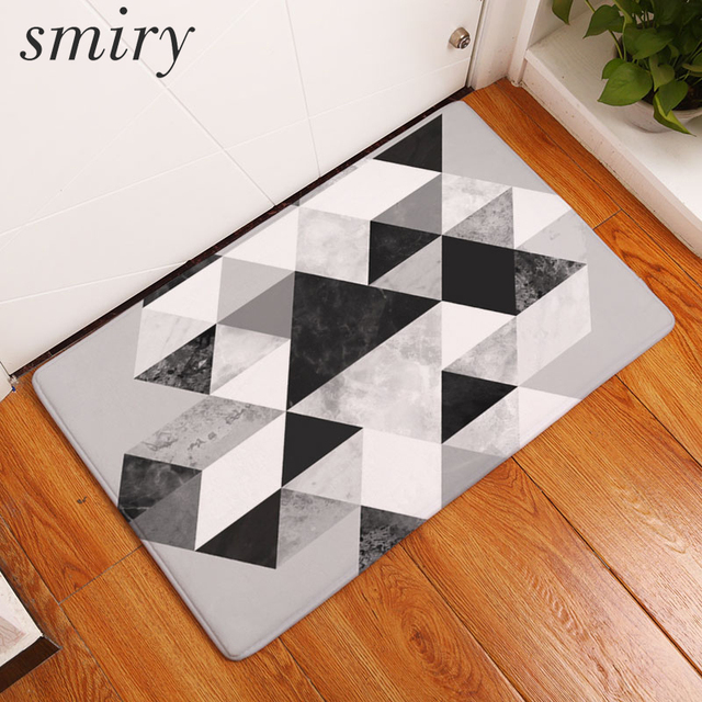 Smiry Nordic Welcome Home Door Mat Simple Triangle Painted Anti-Slip Floor Mats Waterproof Living : nordic door mat - pezcame.com