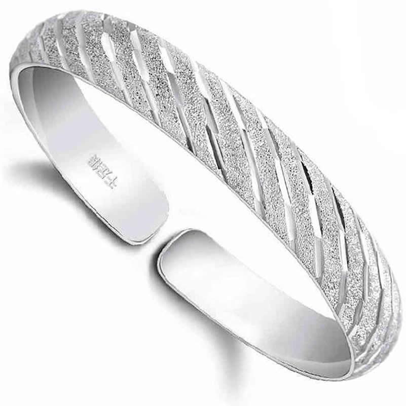 meteor cuff bracelet 999 fine silver bangle bracelet opening meteor vintage jewelry small silver jewelry