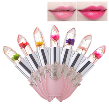 Crystal Jelly Flower Lipstick Temperature Color Changing Lip Balm Makeu