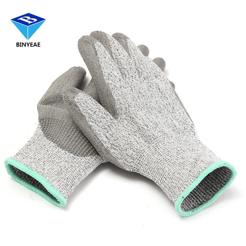 Hppe+pu Heather Grey Agriculture Safety Cut Stab Proof Resistant Protective Mesh Butcher Gloves Durable Quality Genuine BINYEAE pastoralism and agriculture pennar basin india