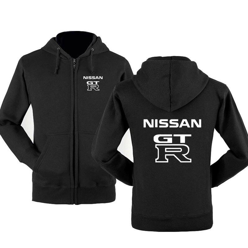 Fashion GTR Car Logo Sweatshirt Hoodies Men Hoody Spring Autumn Fleece Cotton Zipper Jacket Hoodie HipHop Harajuku Male Clothing