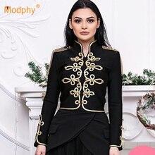 High quality new women's winter black bandage jacket