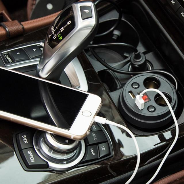 Atreus dla VW polo passat b5 b6 Mazda 3 6 cx-5 Toyota corolla Ford focus 2 3 3.1A wielofunkcyjna ładowarka samochodowa zapalniczka