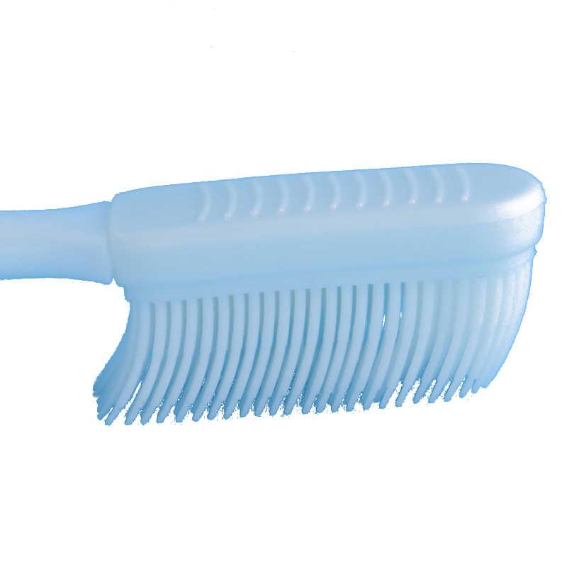 2PCS Soft Toothbrush Adult Silicone Nano Brush Oral Care Nano-antibacterial Toothbrush