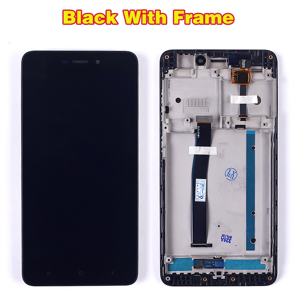 HTB11Et7aULrK1Rjy0Fjq6zYXFXaG 100% Tested LCD display For Xiaomi Redmi 4A 5.0 inch Touch Screen 1280*720 Digitizer Assembly Frame with Free Tempered Glass