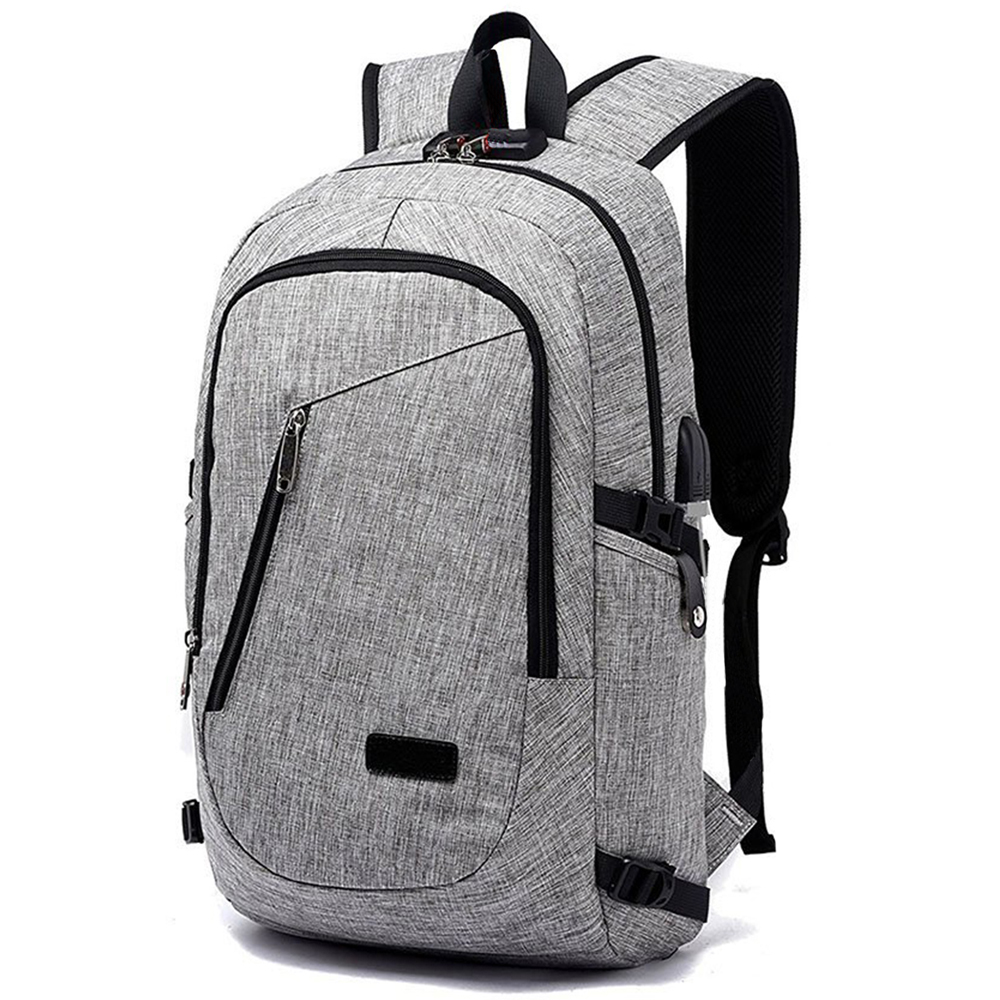 ABDB New USB Charging Backpacks With Headphone Jack Business Laptop Men Backpack Travel School College Bag new design usb charging men s backpacks male business travel women teenagers student school bags simple notebook laptop backpack