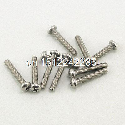 25 Metric <font><b>M5</b></font> <font><b>40mm</b></font> Stainless steel Cross Recessed Pan Head Screws image