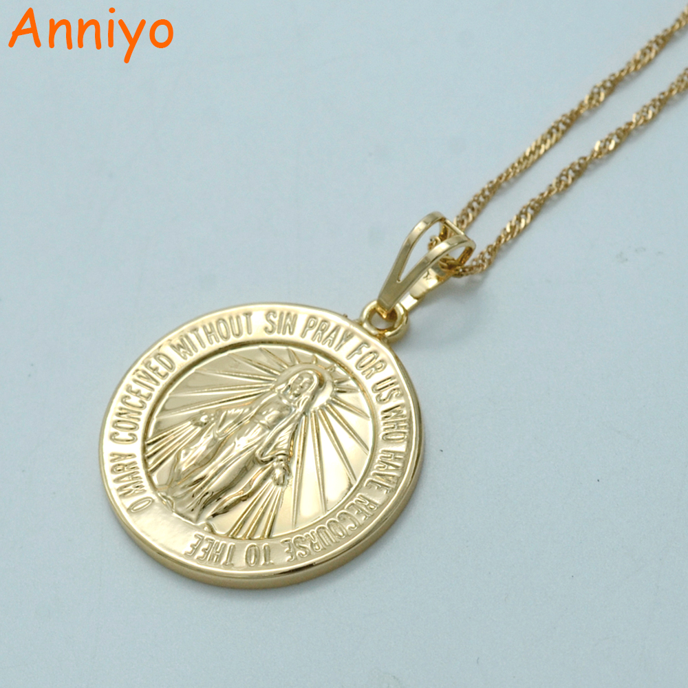 Anniyo Virgin Mary Necklace,Mary Conceived Without Sin ...