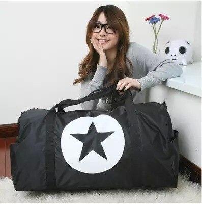 Wholesale Large Capacity Waterproof Nylon Travel Bag Folding Multi function Luggage Travel Duffle Bags Nylon Big Travel Handbag