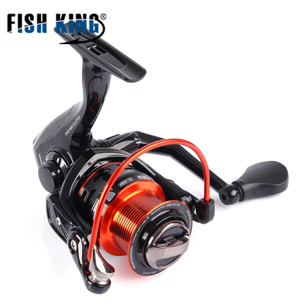FISH KING FL Fishing Spinning Wheel 2000/3000/5000 Series 9+1 BBs 5.1:1 8KG Max Drag Freshwater Spinning Fishing Reel seashark salt water spinning fishing reel 1000 2000 3000 4000 5000 6000 7000 spinning wheel max drag force 12 5kg copper gear