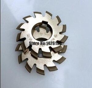 Image 5 - 8 個 NO.1 NO.8 M0.4 M0.5 M0.6 M0.7 M0.8 M1 M1.25 M1.5 M2 M3 M4 モジュラス PA20 度 HSS ギアフライスカッターギア切削工具