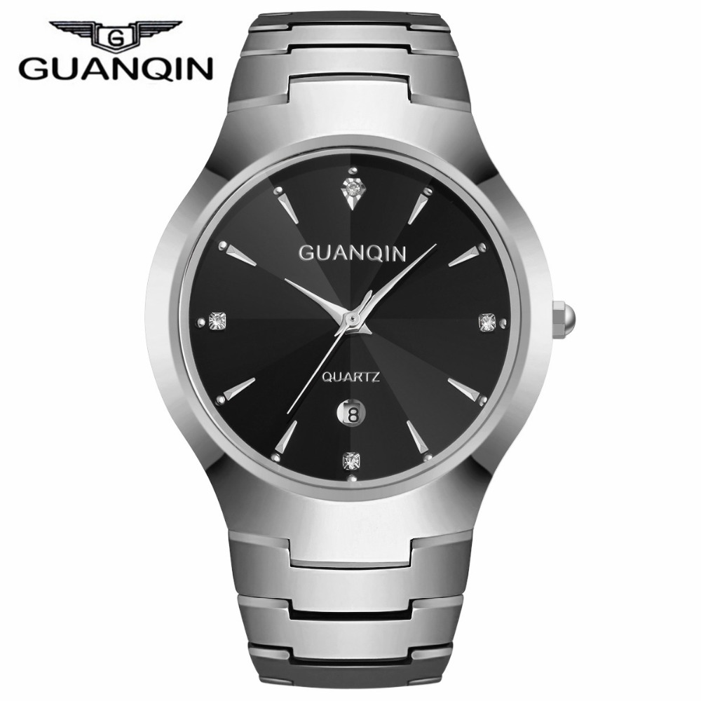 GUANQIN Brand Top Watches Men Luxury Tungsten Steel Men s Watches Analog Display Quartz Clock Man