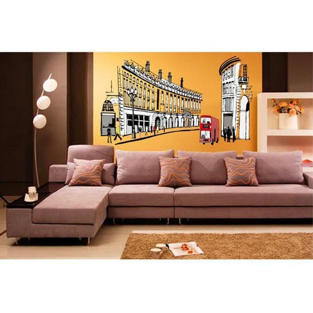 GroBartig Retro Abstrakte Hause Schlafzimmer Dekor Romantische Römischen Straße Typ  Aufkleber Wandaufkleber