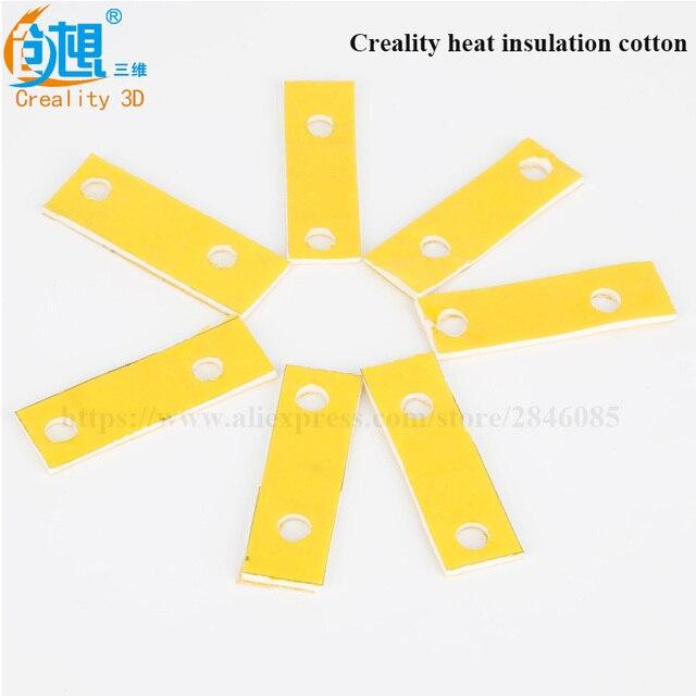 Nouveau Venir 3d imprimante chauffage bloc coton hotend buse coton d'isolation thermique pour Creality CR-10 3D Imprimante