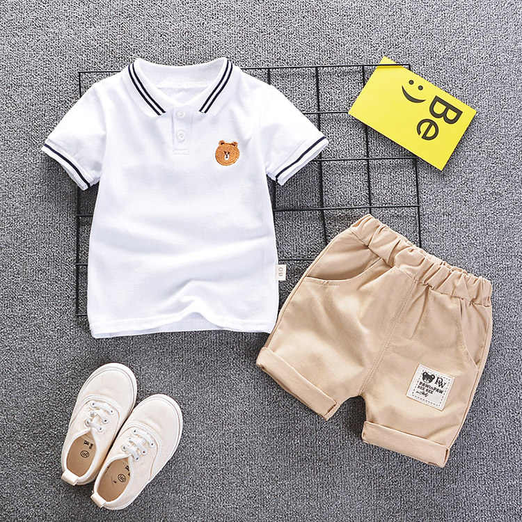 Boys summer clothing sets kids casual cotton t-shirt+short pants 2pce tracksuits for baby boys children sports suits clothes