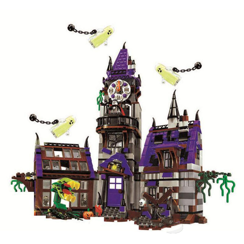 10432  Scooby Doo Figures Mystery Mansion Plane Adventures Machine Bus Blocks For Children Gift