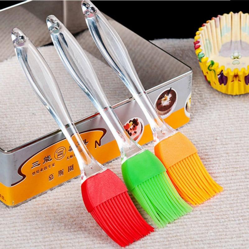 Silicone Pastry Brush Baking BBQ Basting Brush Baking oil Brush Clear Handle