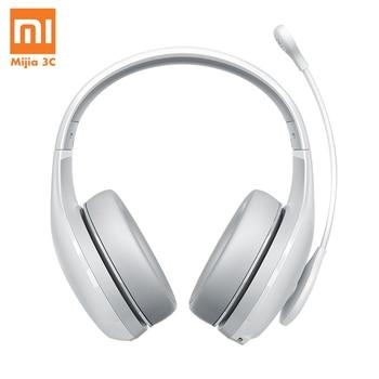 Original Xiaomi Headphone Bluetooth Earphone Fashion Karaoke MI Wireless Bluetooth Headset with MicophoneHead-mounte White