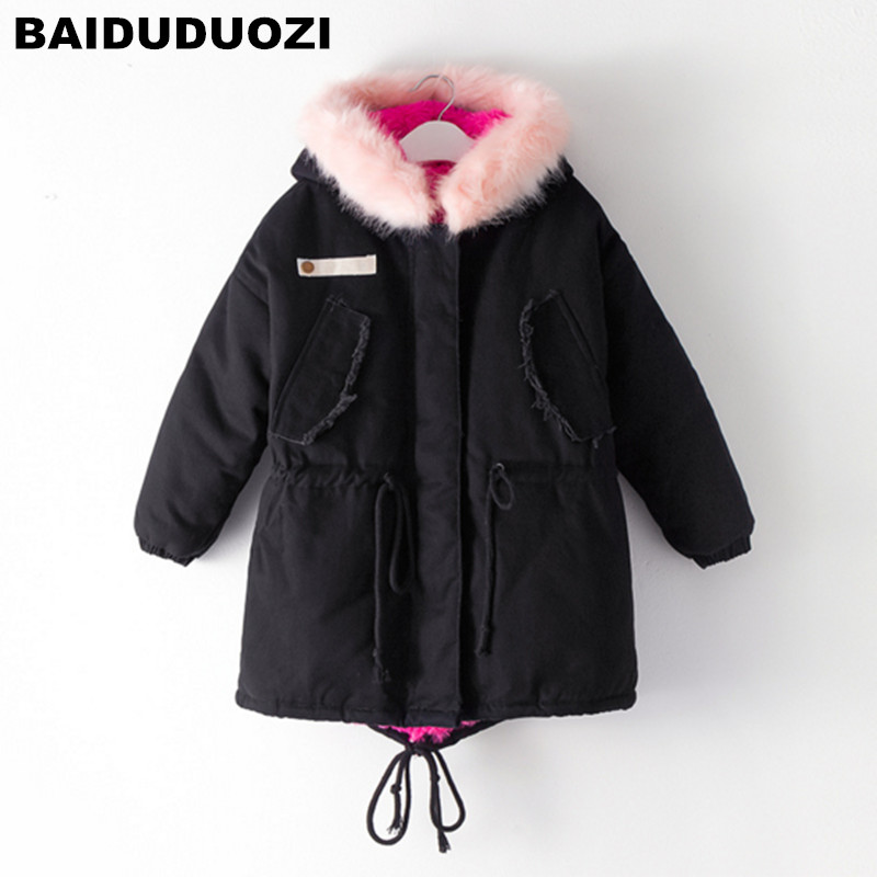 Kids Parkas Hooded Coat children's Winter jackets Warm Down cotton For Girl clothes Children Outerwear Thick Overcoat enfant winter warm children clothing coats outerwear brand boy girl down parkas infantil kids clothes suit jacket enfant cute cotton