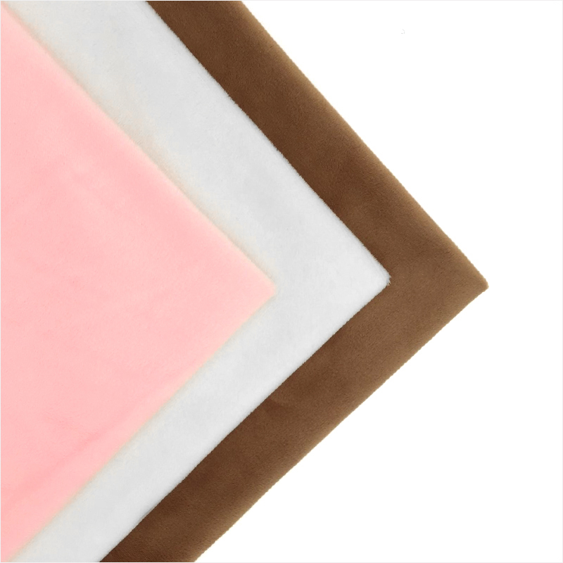 Hot Sale 2017 Solid Color Series Soft Minky Fabric Cheap Sewing Patchwork Fabrics For DIY Baby Toys Sheet Sofa 40x50cm 3pcs/lot