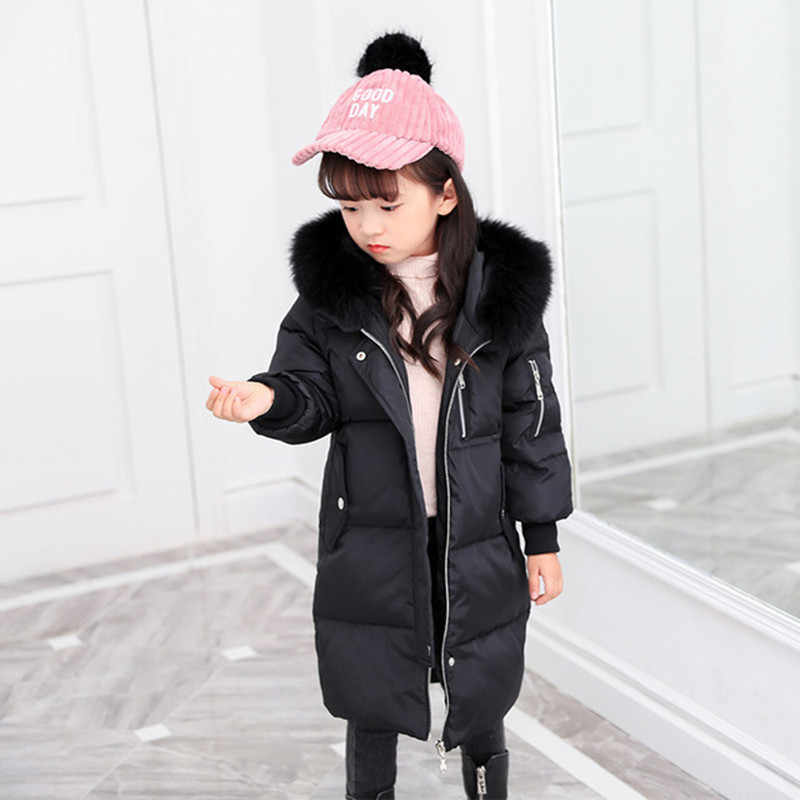 747d59121882 Detail Feedback Questions about Down Jacket For Girl   Boy Winter Jacket  Girls Children Boys Down Coat Fashion Thick Warm Solid Long White Duck Down  Jackets ...