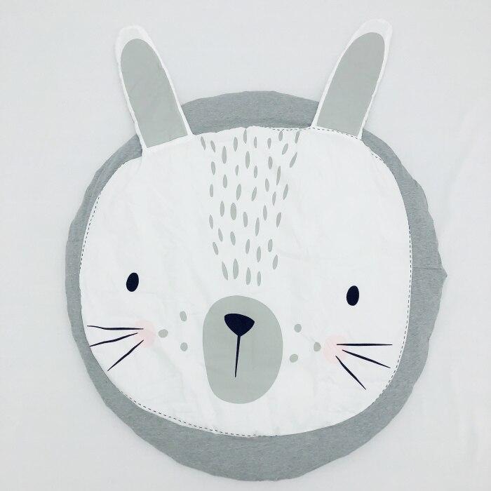 95 см детская игра коврики круглый коврик, мат хлопок Лебедь Ползания одеяло пол ковер для детской комнаты украшения INS подарки для малышей - Цвет: gray bunny 90cm