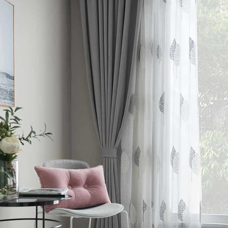 ปัก Tulle หน้าต่างผ้าม่านสำหรับห้องนั่งเล่นห้องนอนห้องครัวผ้าม่านหน้าต่างผ้าม่านผ้าสำหรับ Salon