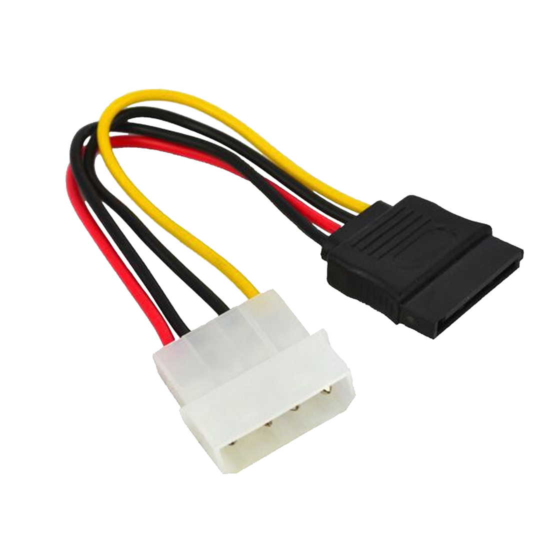 Marsnaska Hot 1pcs Serial ATA SATA 4 Pin IDE To 15 Pin HDD Power Adapter Cable Hard Drive Adapter Male To Female Cable