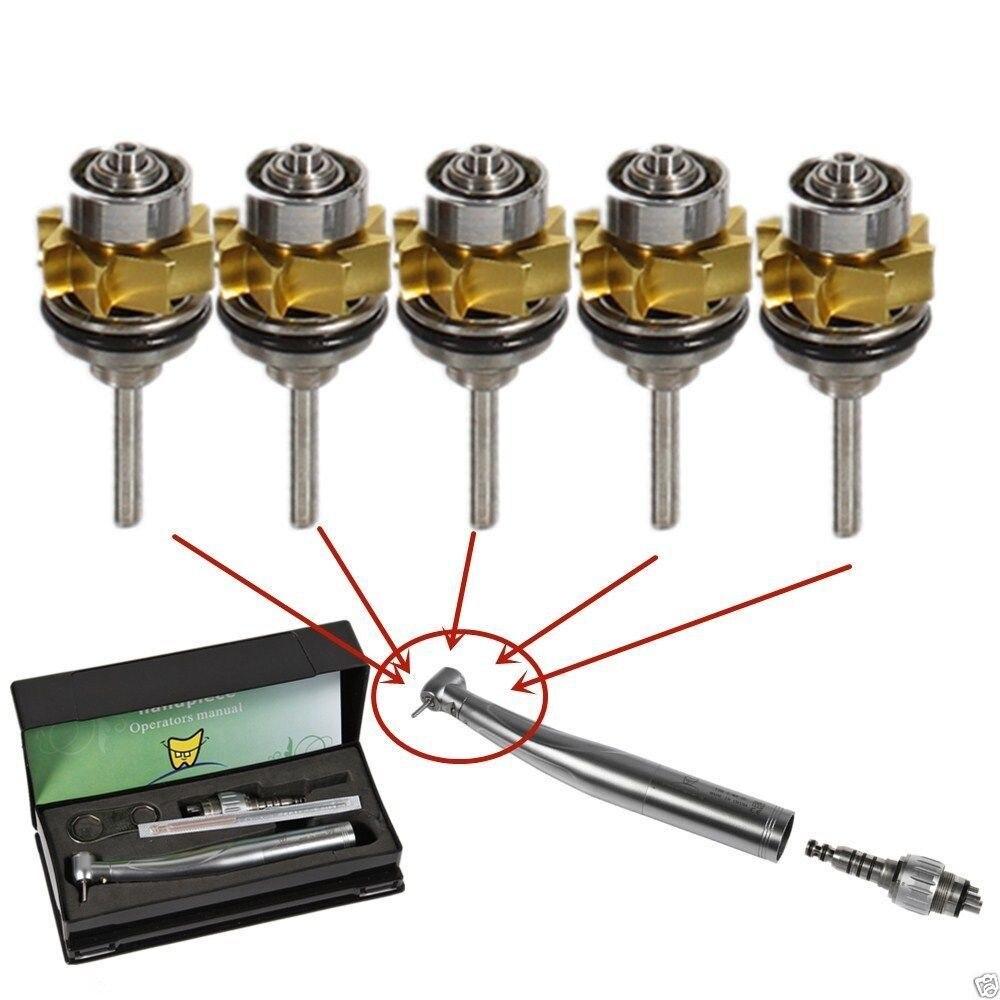 5x Dental Cartridge Rotor Fit E-generator LED High Speed Handpiece Torque YDKKM