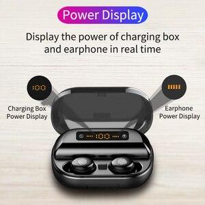 Image 2 - TWS Verdadeiro 8D do Fone de ouvido 5.0 Fones de Ouvido Bluetooth Estéreo Sem Fio Fones de Ouvido Controle de Toque À Prova D Água com LED Banco do Poder 4000 mAh